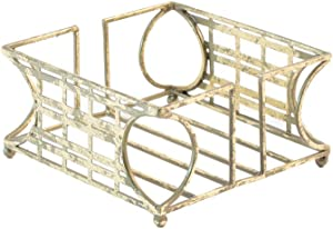 Boston International New York Art Deco Stripes Cocktail Napkin Holder Caddy, 5.25 x 5.25-Inches, Gold Foil