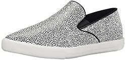 Qupid Women's Mitch-01 Fashion Sneaker, Black/White, 6 M US
