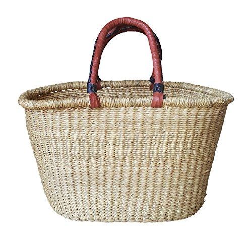 Shopper Basket - Natural - Ghana Bolga #2001 Basket Weaver Tote