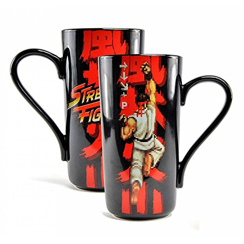 Half Moon Bay Street Fighter Latte Mug Boxed - Capcom (Ryu) (Stoneware Cups Coffee Japan)