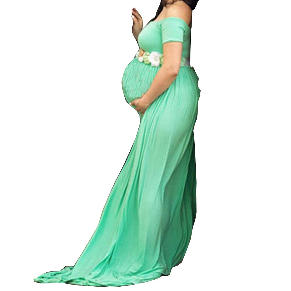 b620215f6c 100% Brand New Pregnant Women s Lace Evening Party Gown Maxi Dress Maternity  Photography Props