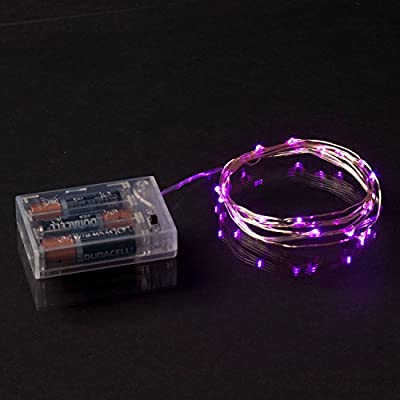 RTGS 20 Pink Color Micro LED String Lights Battery Operated on 7.5 Feet Silver Wire
