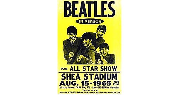 Art Print Poster Canvas The Beatles at Shea Stadium Concert Poster 1966 1