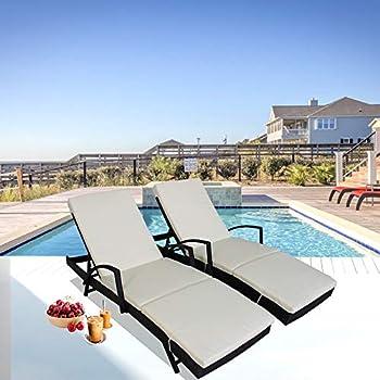 Amazon.com : Outdoor Patio Synthetic Backyard Poolside ...