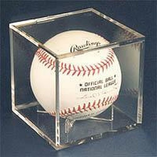 - Ultra Pro NA UV Protected Square Baseball Cube Ball Holder Display Case, Clear