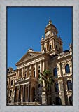 Clock Tower, City Hall (1905), Cape Town, South Africa by David Wall / Danita Delimont Framed Art Print Wall Picture, Flat Silver Frame, 22 x 32 inches