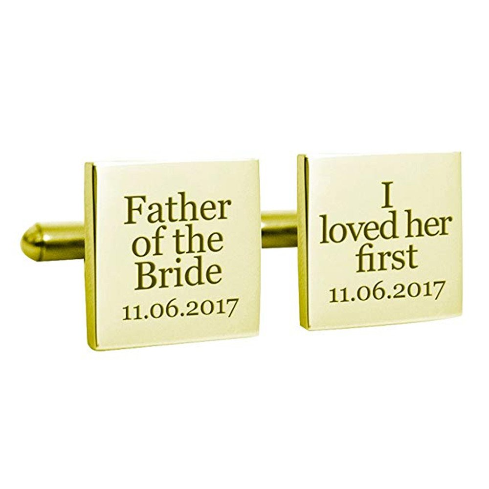 925 Sterling Silver Personalized Male Cufflinks Father of the Bride Custom Made with Any date Custom Name Necklace L-2201-4
