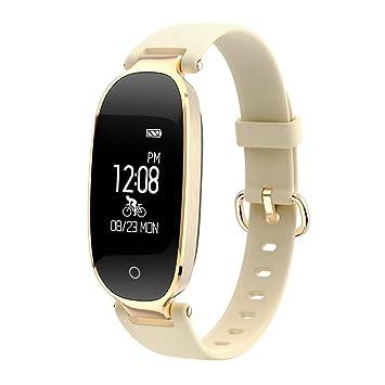 Formulaone S3 Elegante diseño a Prueba de Agua Bluetooth Reloj Inteligente Monitor de Ritmo cardíaco Fitness Tracker muñeca Smartband 0.96 Pulgadas de ...