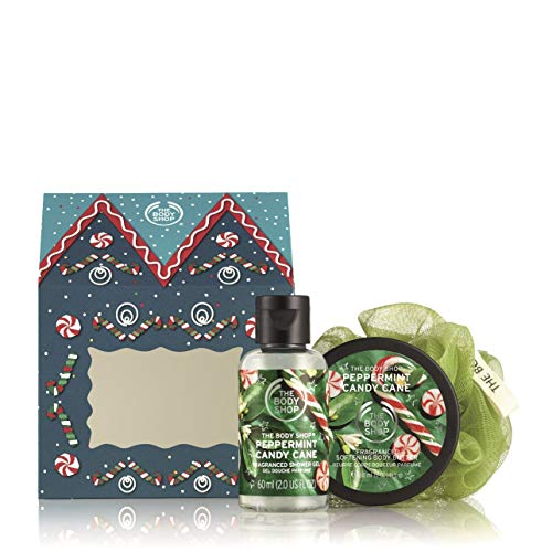 (The Body Shop House of Peppermint Candy Cane Delights Gift Set)