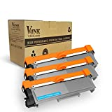 V4INK 3-Pack New Compatible Brother TN630 TN660 Toner Cartridge Black for Brother HL-L2340DW HL-L2300D HL-L2380DW MFC-L2700DW L2740DW DCP-L2540DW L2520DW HL-L2320D MFC-L2720DW L2740DW Printer