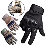Upgraded Men's Full Finger Tactical Military Motorcycle Cycling Gloves Climbing Hiking Hunting Outdoor Sports Smart Gloves By Hi Suyi