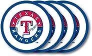 Duck House MLB Texas Rangers Vinyl Coaster Set (Pack of 4) , 4&