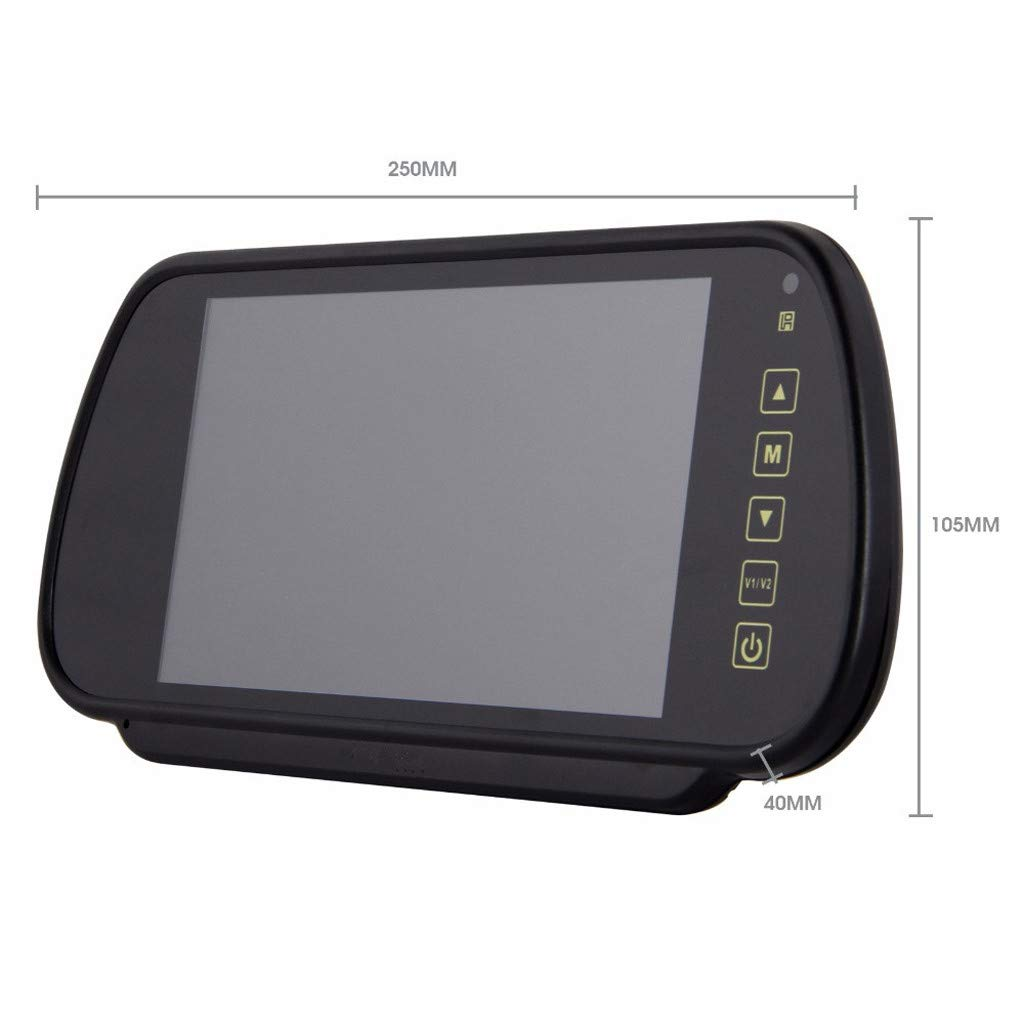Sonmer 7.0'' LCD Rearview Mirror HD MP5 Display Camera,120° Wide View,Support Night Vision,With 2.4Ghz Wireless Car Reverse Rear View Backup Camera by Sonmer_Car Kit (Image #6)