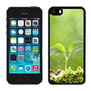 New Beautiful Custom Designed Cover Case For iPhone 5C With Vitality Plant Bud Macro Phone Case