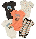 Apparel : Calvin Klein Baby Boys 5 Pack Bodysuits