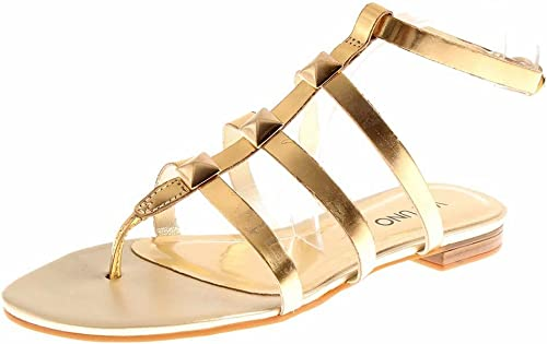 chaussures femme cuir or dore