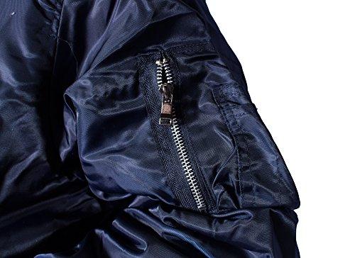 cda7f199891 Amazon.com  MAXXSEL Bomber Jacket for Mens Big and Tall Reversible Nylon  Flight Zip Up Jackets  Clothing