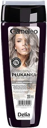 Delia - Cameleo - Tinte plateado para cabello rubio blanqueado, 200 ml