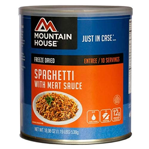 Mountain House Spaghetti with Meat Sauce (10 ServingCan/Pack of 2)