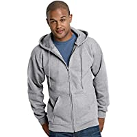 Hanes F280 Ultimate Cotton Fleece Full-Zip Adult Hoodie Size 3XL, Oxford Grey