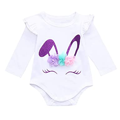 a82e017082a2 Amazon.com  Infant Easter Romper Jumpsuit Clothes for Newborn Baby ...