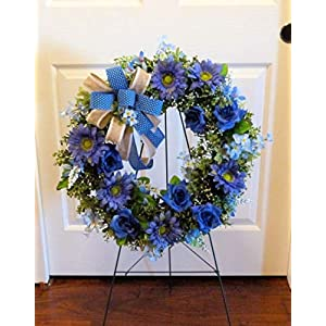 Summer Cemetery Wreath, Father's Day Cemetery Wreath, Summer Grave Wreath 9