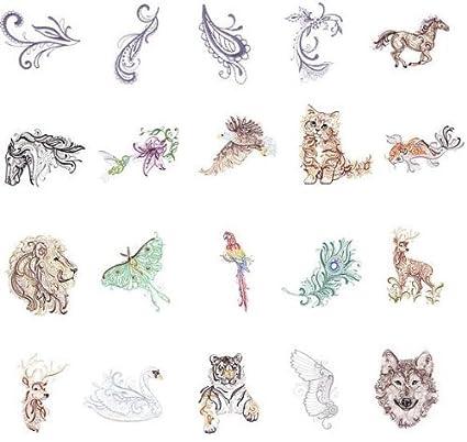 Amazon Oesd Embroidery Machines Designs Cd Majestic Animals