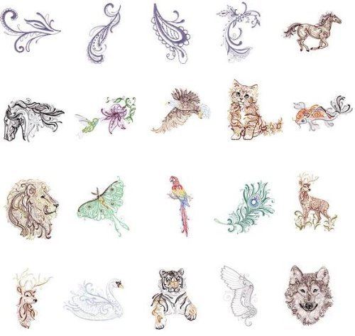 Oesd Embroidery Designs - OESD Embroidery Machines Designs CD MAJESTIC ANIMALS