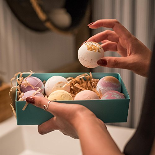 Bath Bombs Gift Set - 8 Luxury All Vegan Bubble Fizzies For Women, Relaxation Bath Bomb Kit - Relaxing Spa Gifts For Her - Unique Birthday & Beauty Products by Zen Breeze (Image #4)