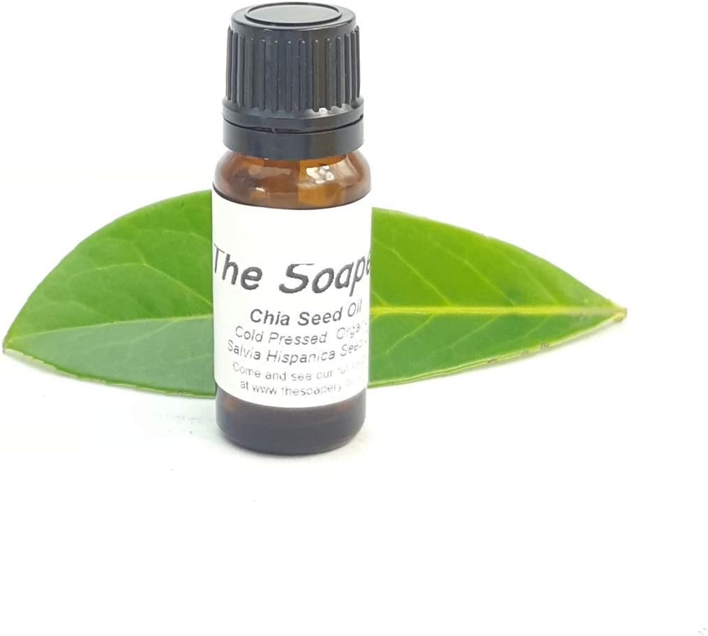 Aceite de semillas de chía orgánico prensado en frío, 10 ml, 100% puro