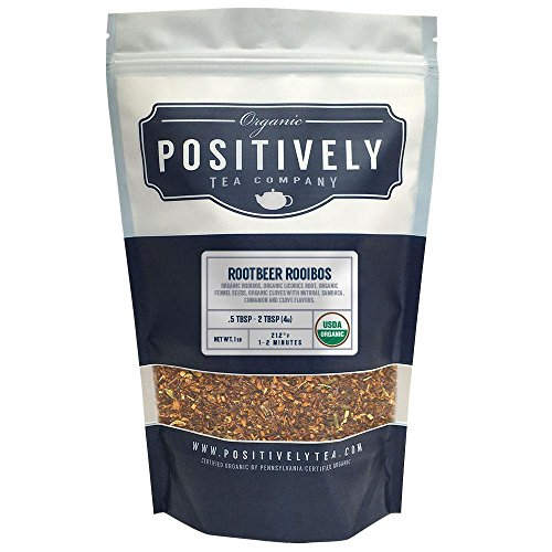 Positively Tea Company, Organic Root Beer Rooibos, Rooibos Tea, Loose Leaf, USDA Organic, 1 Pound Bag