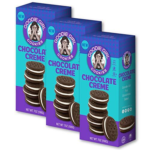 (Goodie Girl Cookies, Chocolate Creme Sandwich Gluten Free Cookies, Peanut Free Cookies (7oz Box, Pack of 3))