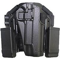 Airsoft tactical pierna derecha muslo rápida pistolera