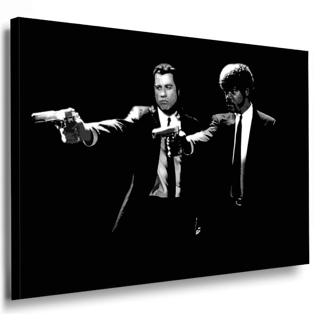 Bild auf Keilrahmen - Pulp Fiction - Fotoleinwand24   AA0168   Schwarz-Weiß   120x80 cm