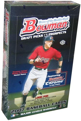 2007 Bowman Draft Picks And Prospects Baseball HOBBY Box - 24 packs/box, 7 cards/pack, 1 Autograph Per Box! -