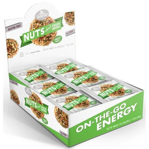 Betty Lou's Nut Butter Balls - Spirulina Ginseng - 1.4 oz - 12 ct - 1 Case by Energy - Ginseng Spirulina Balls