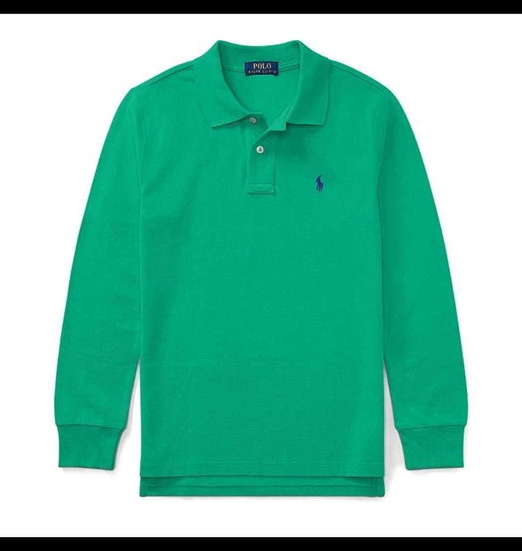 Polo Ralph Lauren Boys Cotton Mesh Long-Sleeve Polo