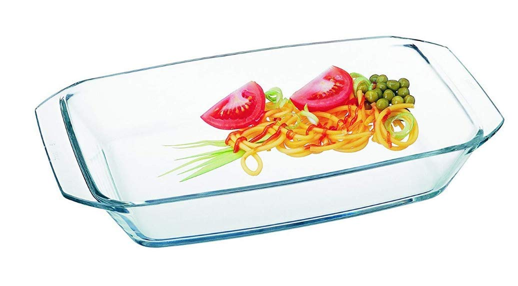 Clear Rectangular Glass Roaster by Simax | Heat, Cold and Shock Proof, Made in Europe, 1.6 Quart