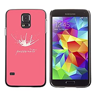 TECHCASE**Cubierta de la caja de protección la piel dura para el ** Samsung Galaxy S5 SM-G900 ** Milk Splash Passionate Funny Pink