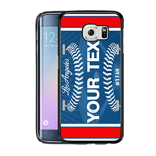 BRGiftShop Customize Your Own Baseball Team Los Angeles Blue Rubber Phone  Case for Samsung Galaxy S7 Edge