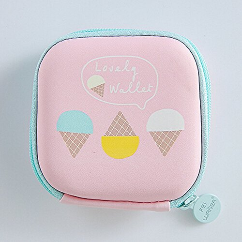 Round Cards Blue Portable JESPER Storage Storage Pink Mini Headphone Bag Case A Earphone for nEza4xzw