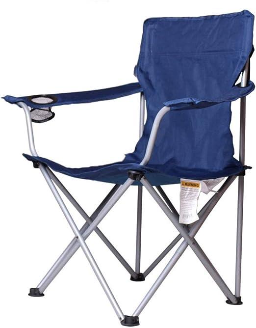 ZR Chaise Pliante Portable avec Repose Tasse et Sac de