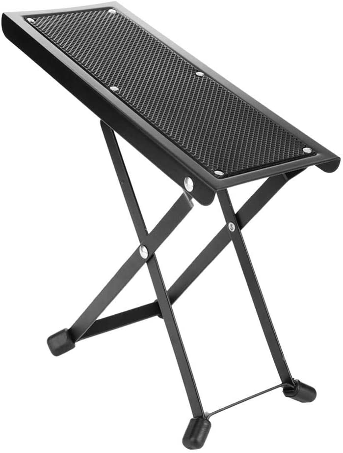 Dilwe Pedal de Guitarra, Anti-Slip Plegable Guitarra Pedal Ajustable Altura Foot Rest Stool Instrumentos