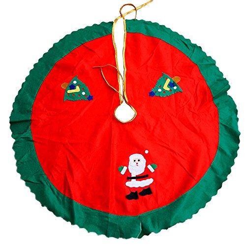 SMYLLS Christmas Santa Tree Skirt Xmas Decor Red 36