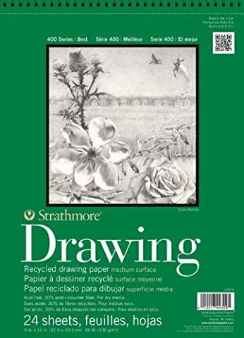 Strathmore 400 Series Recycled Drawing Pad, Medium Surface, 9