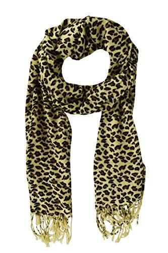 Peach Couture Leopard Scarves Fringes