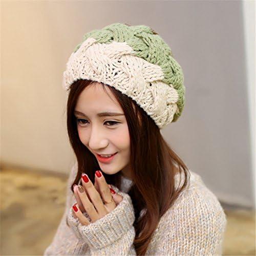 Las mujeres de invierno Faux Fur Bola Gorra de gorro de Crochet de ...