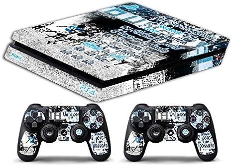 Skin PS4 SLIM HD - NAPOLI UN DÍA DE PRONTO ULTRAS FUTBOL - limited edition DECAL COVER ADHESIVO playstation 4 SLIM SONY BUNDLE: Amazon.es: Videojuegos