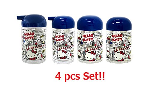 [4 pcs set] OSK Sanrio Hello Kitty Salt,Pepper,Sauce & Soy Sauce Bottle Set TA-11 TA-12 TA-13 TA-14 from Japan