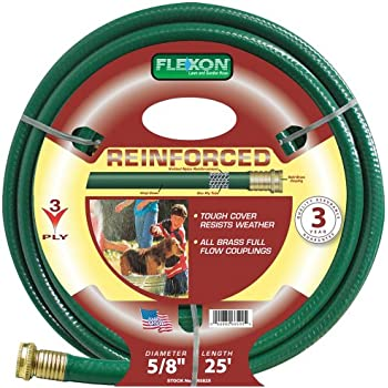 Flexon 5/8-Inch by 25-Foot Reinforced Garden Hose FR5825